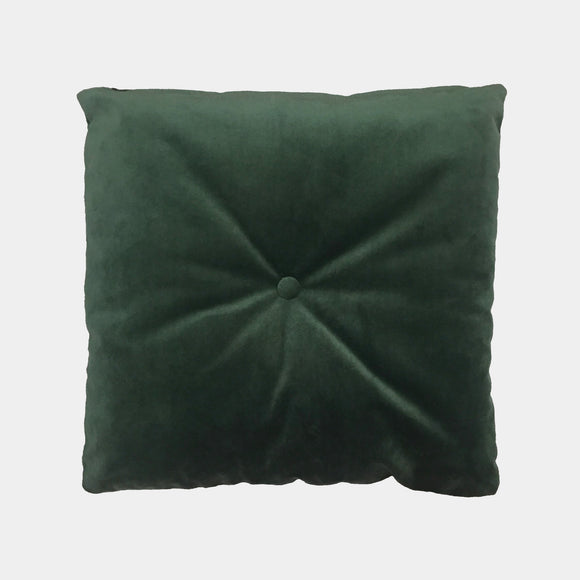 Velvet cushion - green