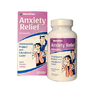 Natural Care Homeopathic Anxiety Relief (120 Sublingual Tablets)