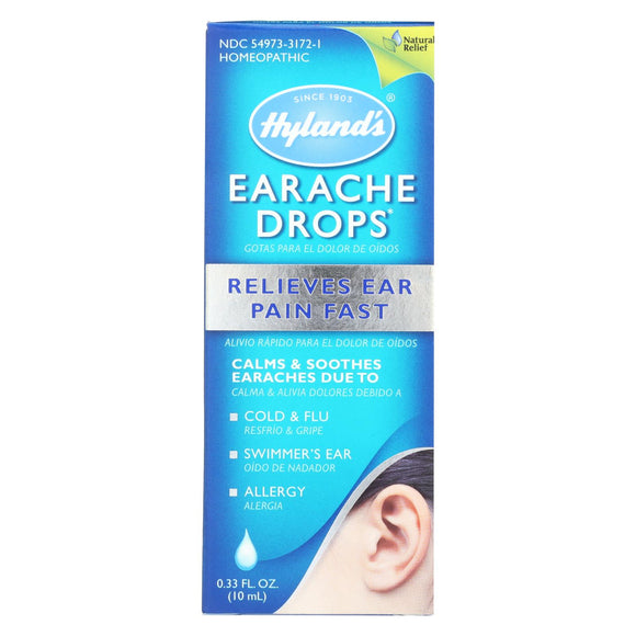 Hyland's Earache Drops Swimmers Drops for Kids and Adults (10 mL)