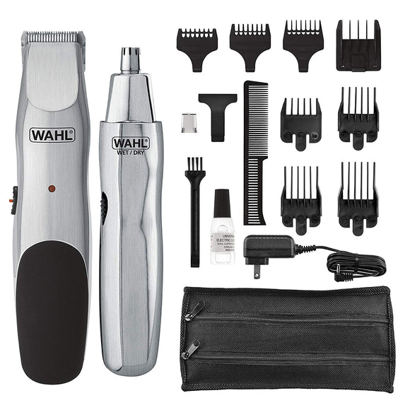 Wahl Groomsman Cord/Cordless Beard, Mustache, Hair & Nose Hair Trimmer for Detailing & Grooming Model 5623