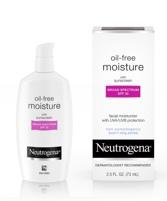 Neutrogena Oil-Free Moisture with Sunscreen Broad Spectrum SPF 35, 2.5 fl.oz