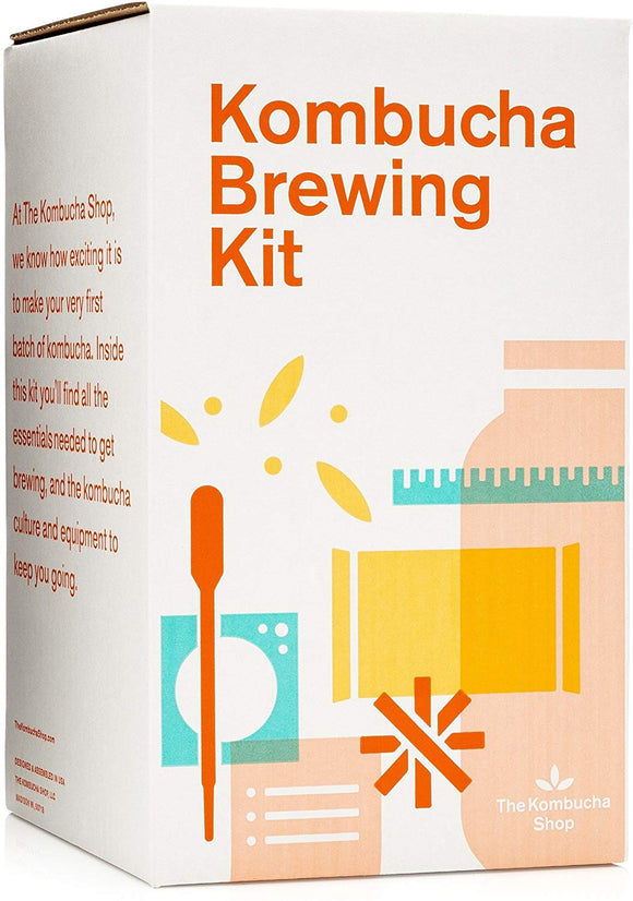 The Kombucha Shop Kombucha Starter Kit, 1 Gallon Brewing Kit, Includes Everything You Need To Brew Kombucha At Home