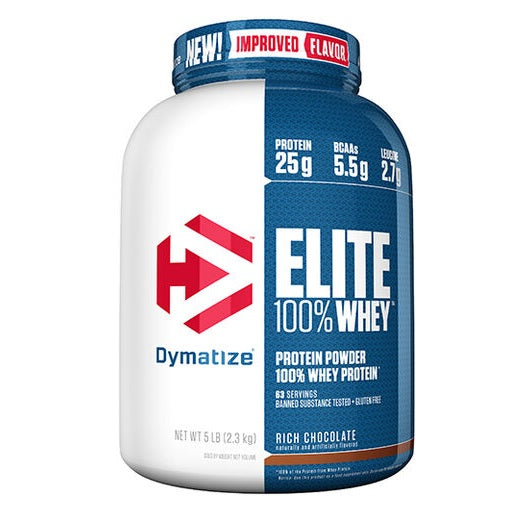 Dymatize Elite 100% Whey Protein Powder, Rich Chocolate, 5 LB