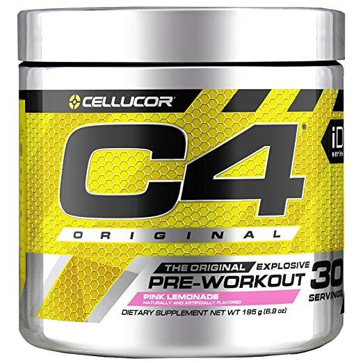 Cellucor C4 Original Pre Workout Powder Energy Drink 30 Servings (Pink Lemonade)