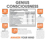 The Genius Brand, Genius Consciousness Nootropic Biohack Technology for Mental Performance 79 grams
