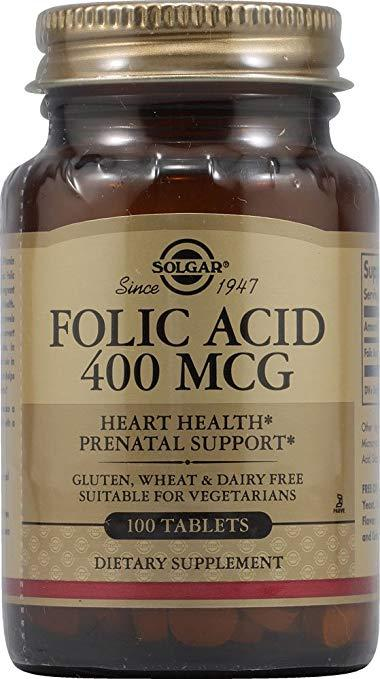 Solgar Folic Acid 400 mcg (100 Tablets)