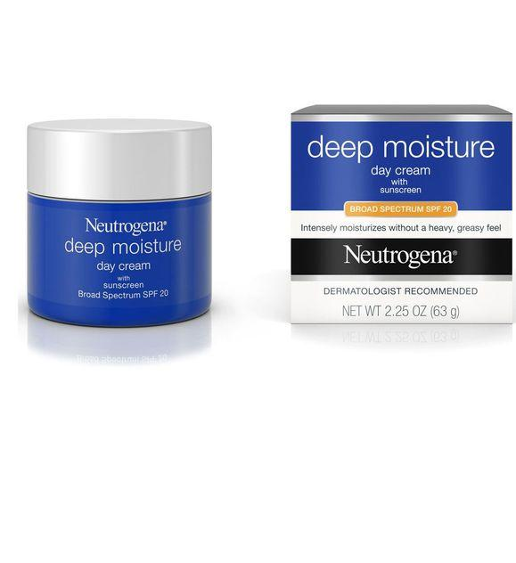Neutrogena Deep Moisture Day Cream with Sunscreen Broad Spectrum SPF 20 (2.25 oz / 63 g)