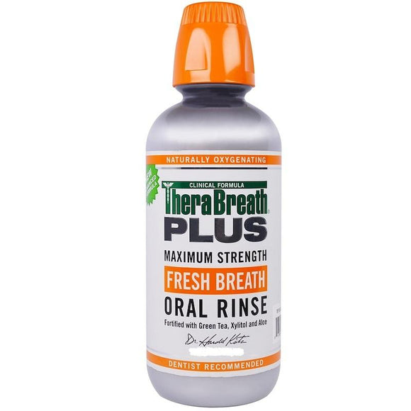 TheraBreath PLUS Maximum Strength Fresh Breath Oral Rinse (3 fl.oz / 88.7 ml)