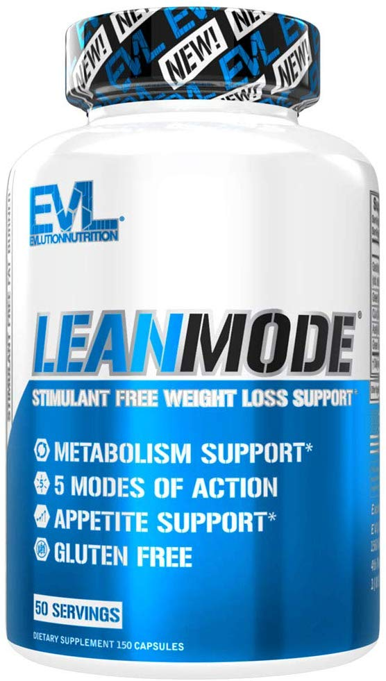 Evlution Nutrition Lean Mode Stimulant-Free Weight Loss Support, 50 Servings (150 Capsules)