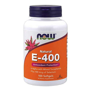 NOW Vitamin Natural E-400 Antioxidant Protection 100 Softgels