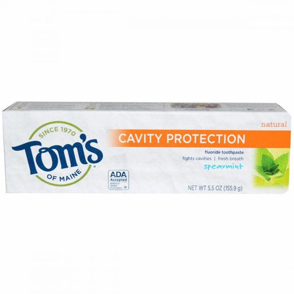 Toms of Maine Natural with Fluoride Cavity Protection Toothpaste 85 ml (Spearmint)