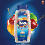 TUMS Antacid Smoothies, Assorted Fruit Extra Strength 750 (250 Chewable Tablets)