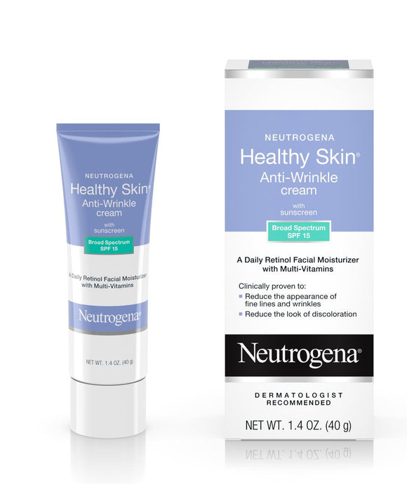 Neutrogena Healthy Skin Anti-Wrinkle Cream with Sunscreen Broad Spectrum SPF 15, 1.4oz