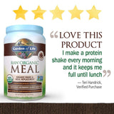 Garden of Life Raw Organic Meal, Organic Shake and Meal Replacement 35.9 oz (Chocolate)