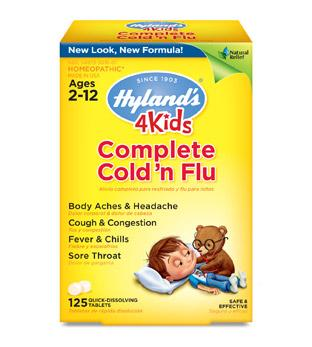 Hyland's 4 Kids Complete Cold 'n Flu 125 Quick-Dissolving Tablets