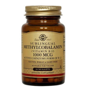 Solgar Sublingual Methylcobalamin Vitamin B12 1000mcg (30 Nuggets)