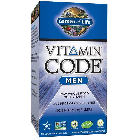 Garden of Life Vitamin Code for Men (120 Vegetarian Capsules)