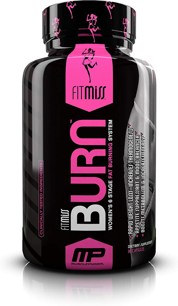 FitMiss Burn, Fat Burner, Enhanced Mood, Energy & Metabolism (90 Capsules)