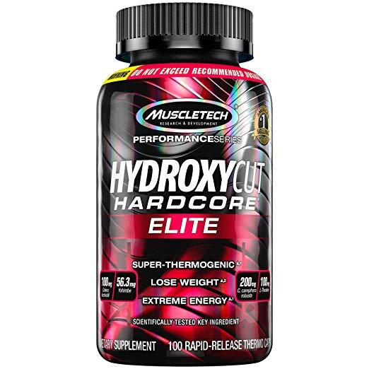 Hydroxycut Hardcore Elite , 100ct, 100mg Coleus Forskohlii, 56.3mg Yohimbe, 200mg Green Coffee, 100mg L-Theanin ,200mg C.canephora Robusta