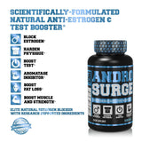 Jacked Factory Andro Surge Estrogen Blocker and Test Booster (60 Veggie Capsules)