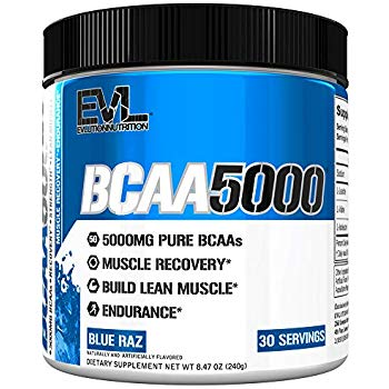 Evlution Nutrition BCAA5000 Powder Branched Chain Amino Acids (30 Servings)