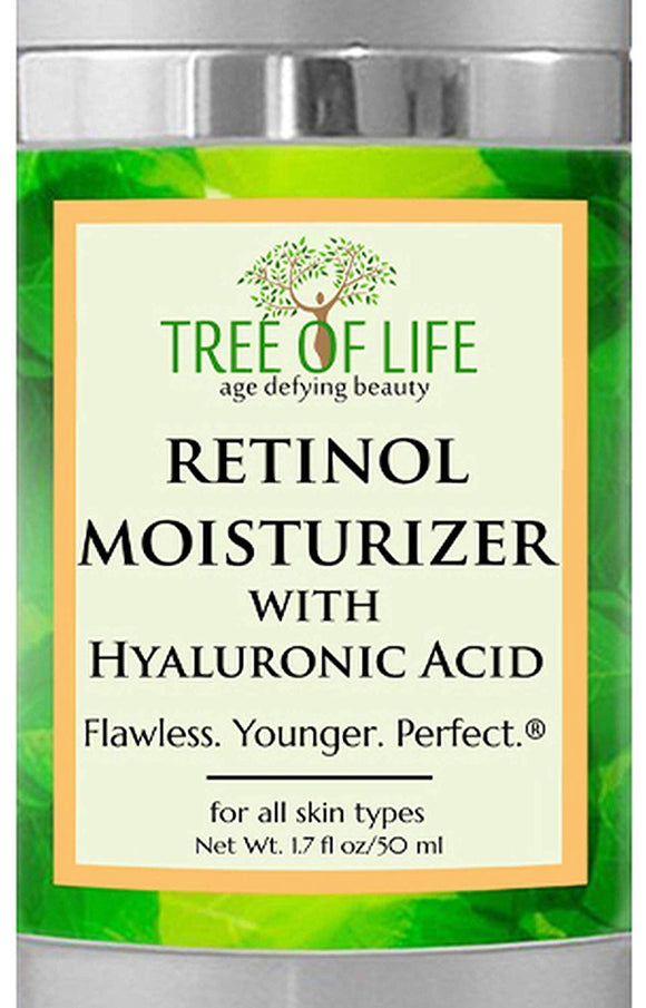 Tree of Life Retinol Moisturizer Face Cream with Hyaluronic Acid, Clinical Strength (50 mL)