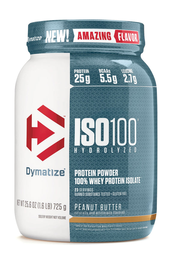 Dymatize Nutrition ISO 100, Whey Protein Powder, Chocolate Peanut Butter, 5 LB
