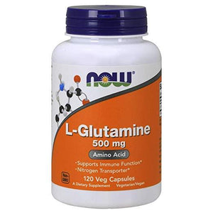 NOW L-Glutamine 500mg Amino Acid (120 Veg Capsules)