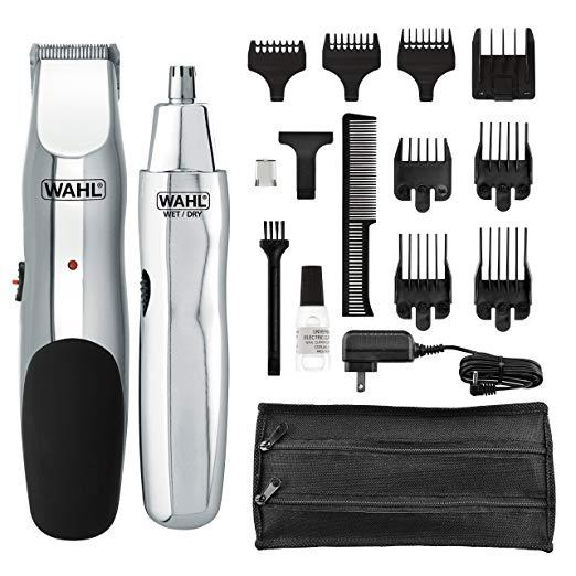 Wahl Model 5622 Groomsman Rechargeable Beard, Mustache, Hair & Nose Hair Trimmer for Detailing & Grooming