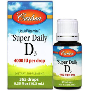 Carlson Super Daily D3 4,000 IU 365 drops 0.35 fl oz (10.3 mL)