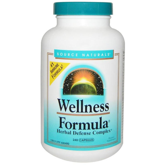 Source Naturals Wellness Formula Herbal Defense Complex 240 Capsules