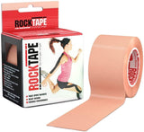 Rocktape Kinesiology Tape for Athletes Water Resistant Reduce Pain and Injury Recovery 180% Elastic Stretch 1 Roll (16.4 Feet)