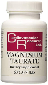 Cardiovascular Research Ltd. Magnesium Taurate (60 Vegetarian Capsules)