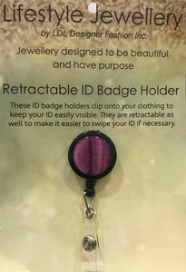 Retractable ID Holder-Pretty Pink Shell