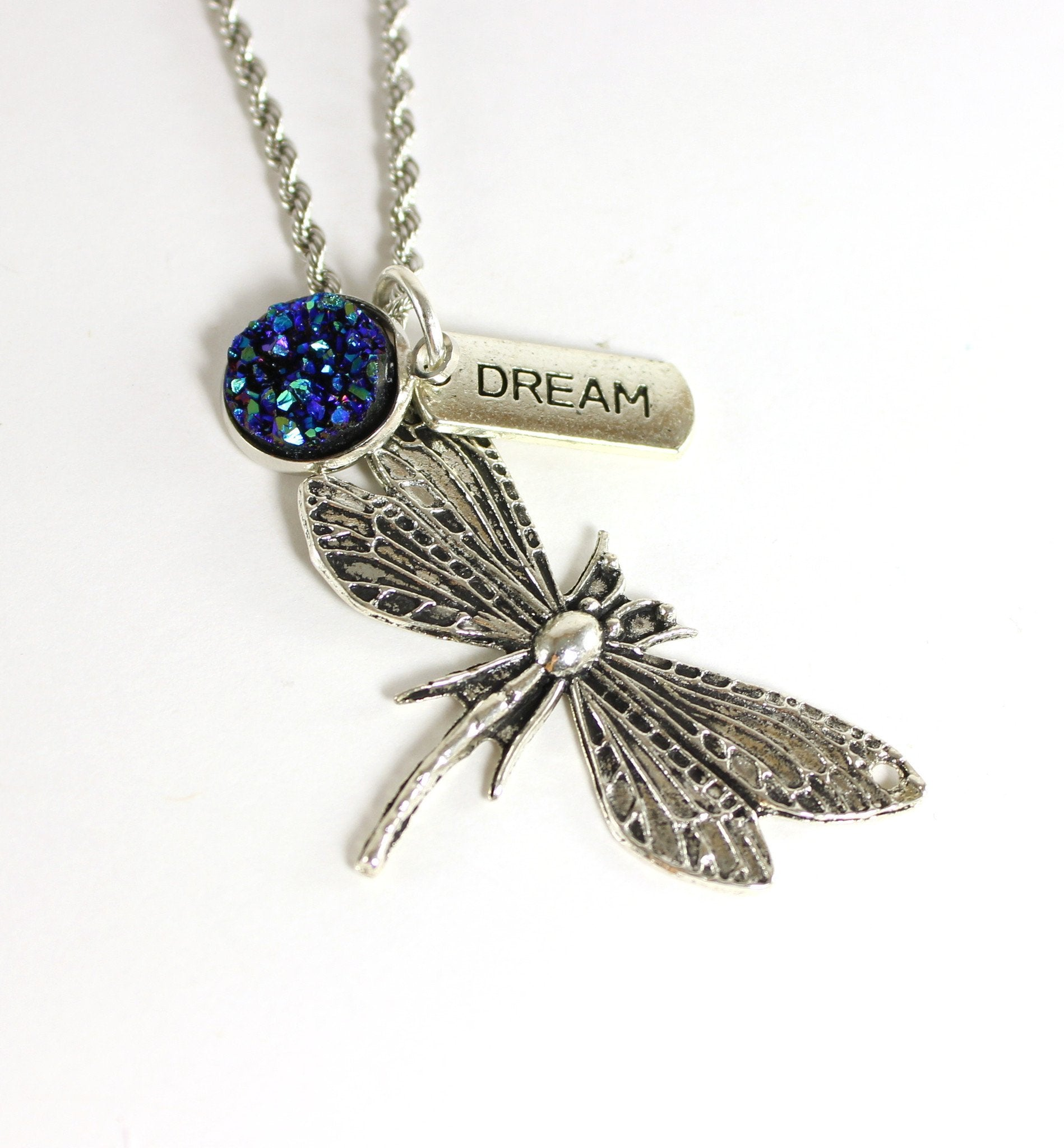 Dragonfly Dream Charm Necklace