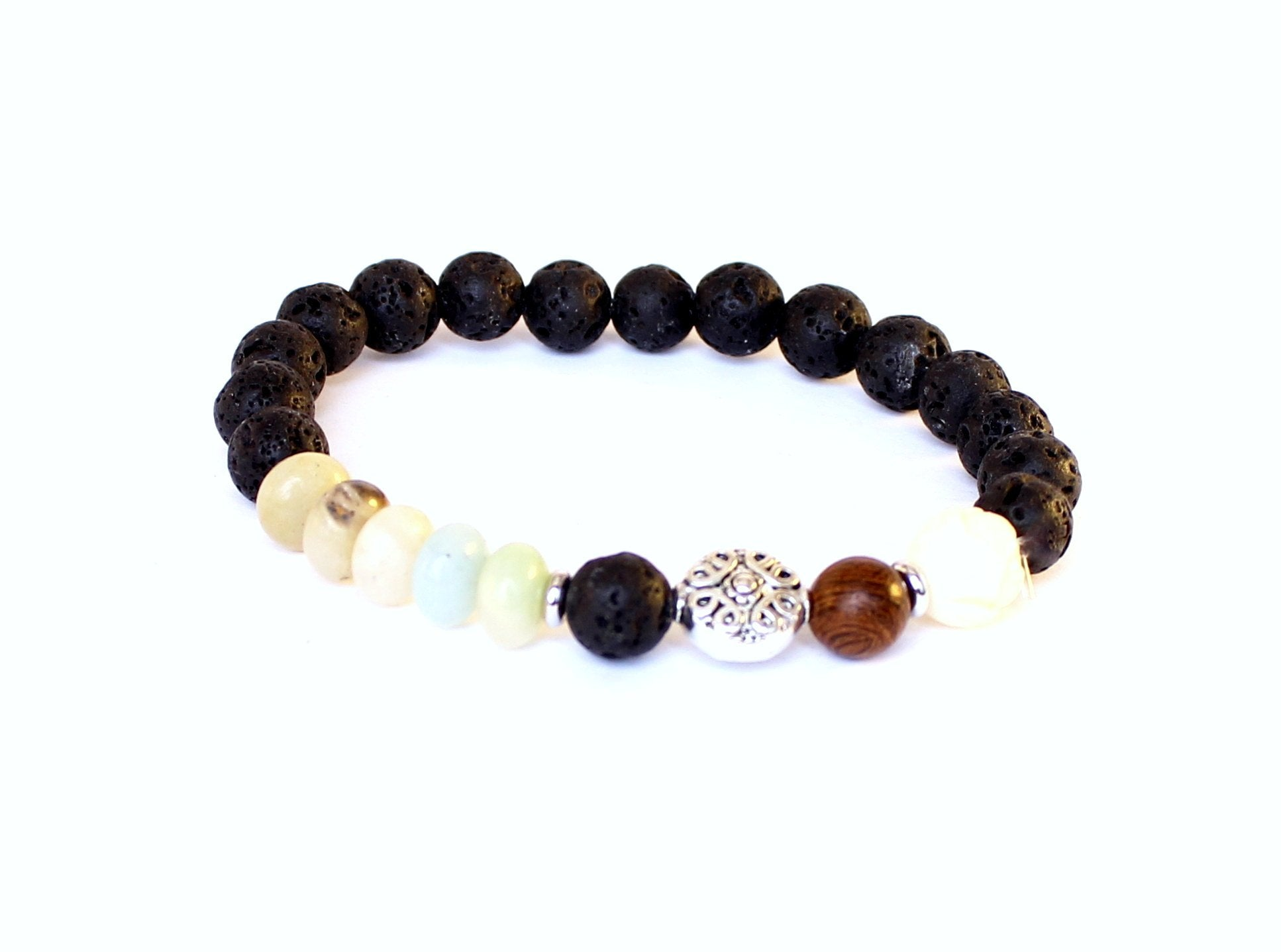 Black Lava Stone Tibetan Dream Bracelet