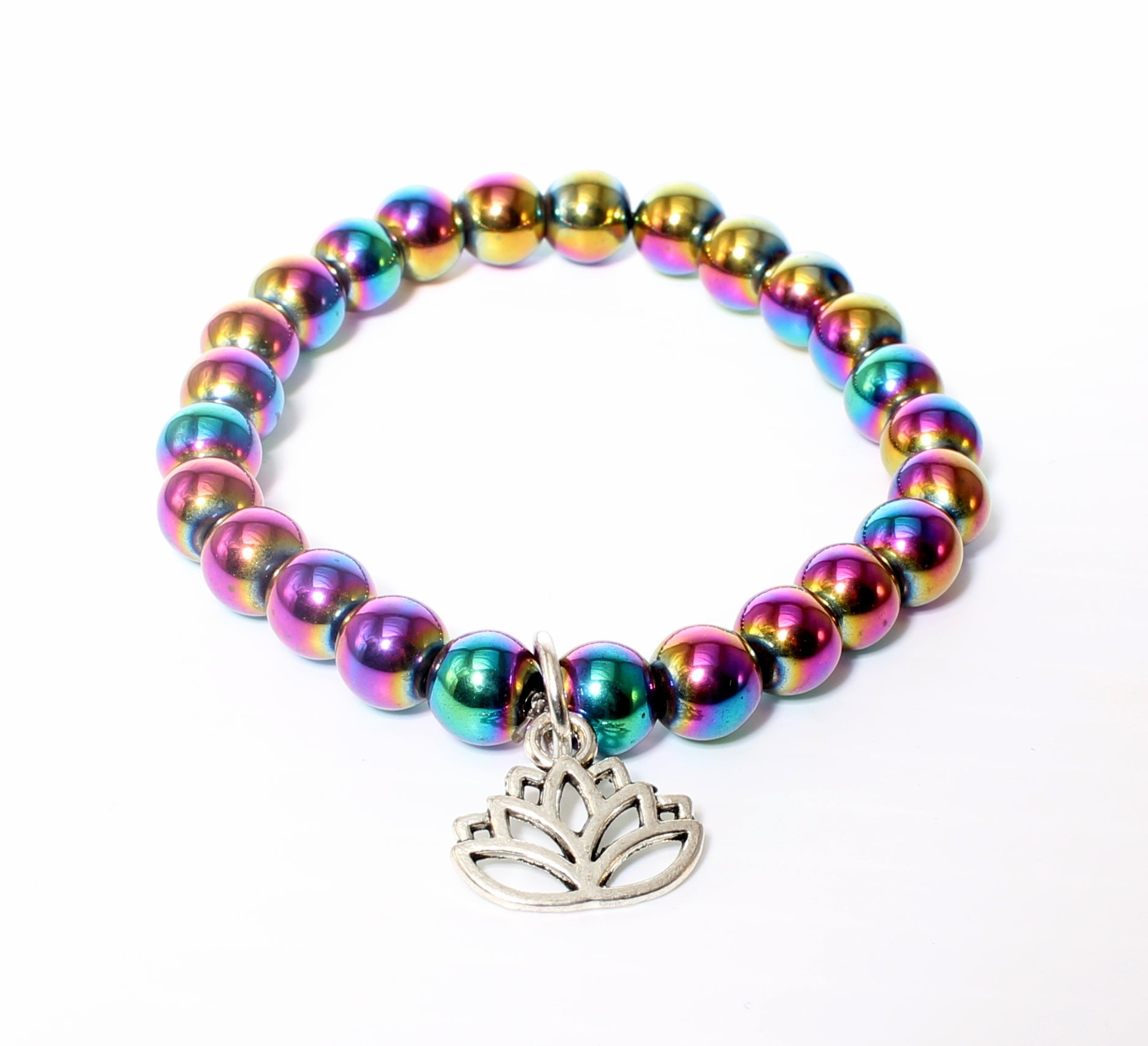 Rainbow Magnetic Hematite-Lotus Flower