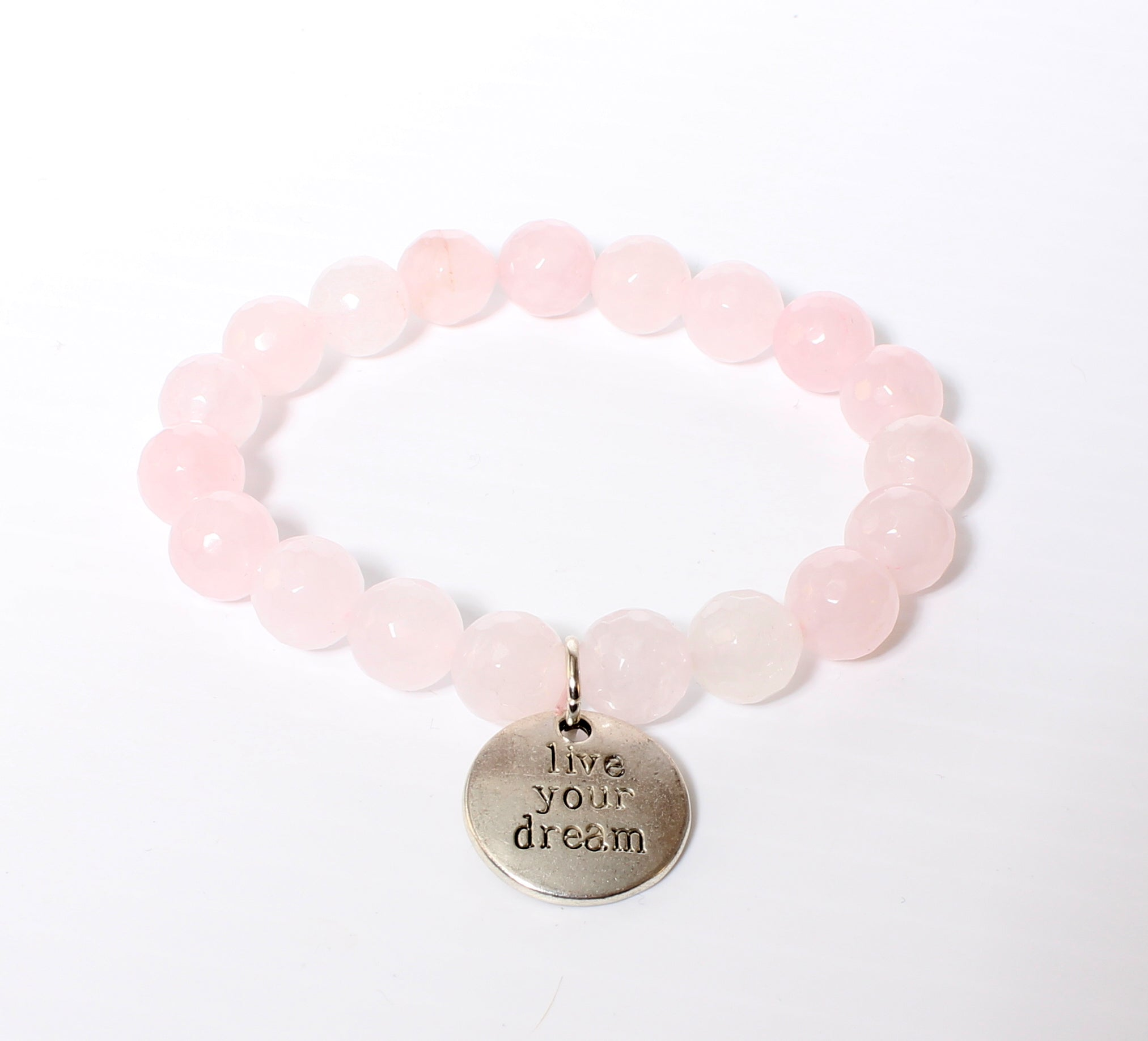 Rose Quartz Gemstone Bracelet-Live Your Dream