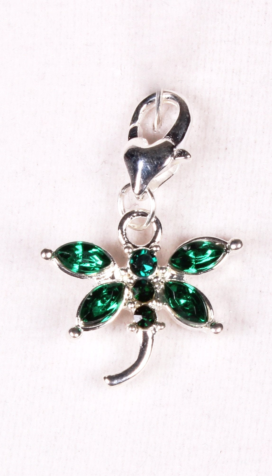 Emerald Green Dragonfly Sparkle