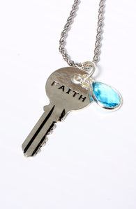 FAITH Key-Charm Necklace