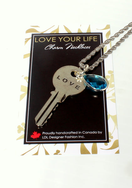 LIVE, LAUGH, LOVE-Charm Necklace