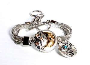 SPARKLE SNAP BRACELET SET-Moon, Stars and Sun
