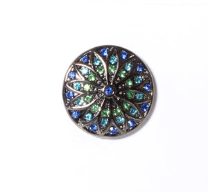 SPARKLE SNAP-Blue and Green Sunburst
