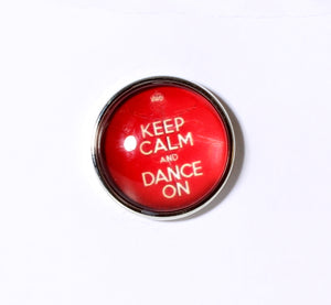 SPARKLE SNAP-Keep Calm and Dance On (Red)