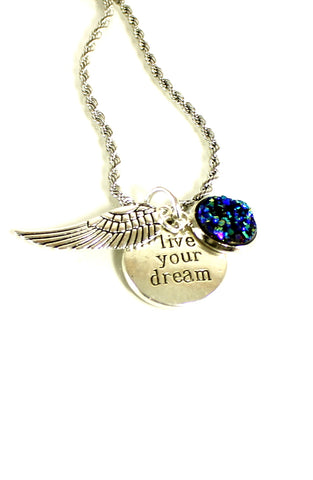 Live Your Dream Charm Necklace