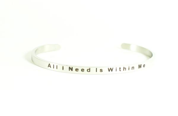 Love Your Life Message Bracelet-All I Need Is Within Me