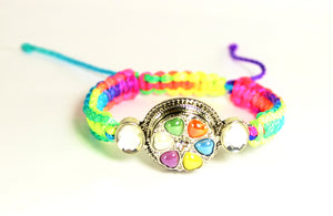 Sparkle Snap Rainbow Ankle or Wrist Bracelet