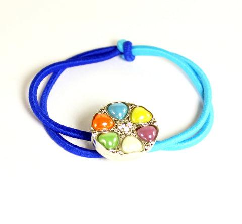 Sparkle Snap Two Tone Blue Small Hairband