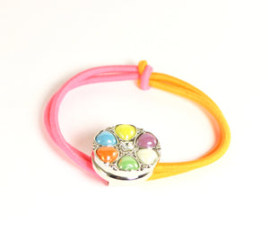 Sparkle Snap Pink and Tangerine Small Hairband