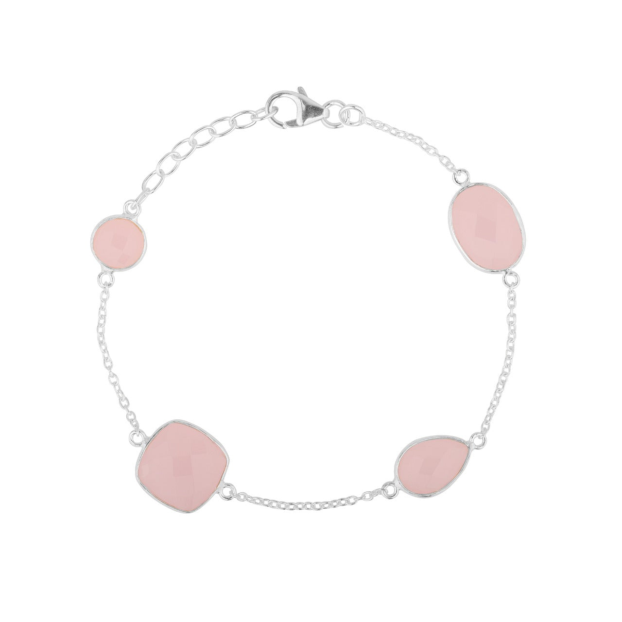 Rose Quartz Bracelet with 4 different stone sizes
